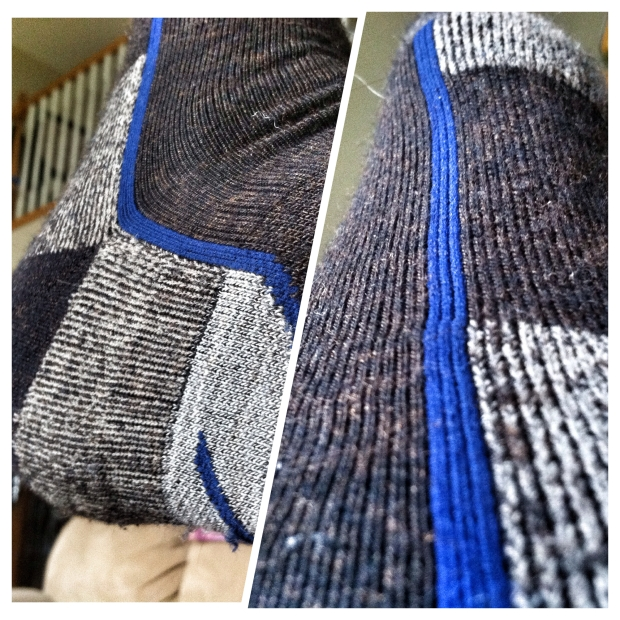 """This is the """"Hiker 1/4 sock cushion"""" sock by Darn Tough"""