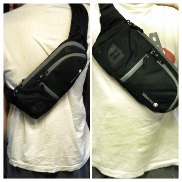 The Venturesafe can be comfortably worn on the back or the front of the body.