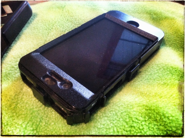 The case without the silicone top layer.